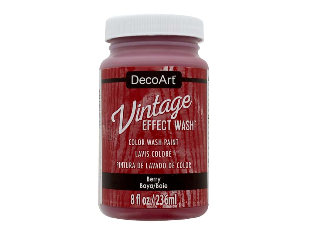 Decoart Vintage Effect Wash 8 oz. Berry