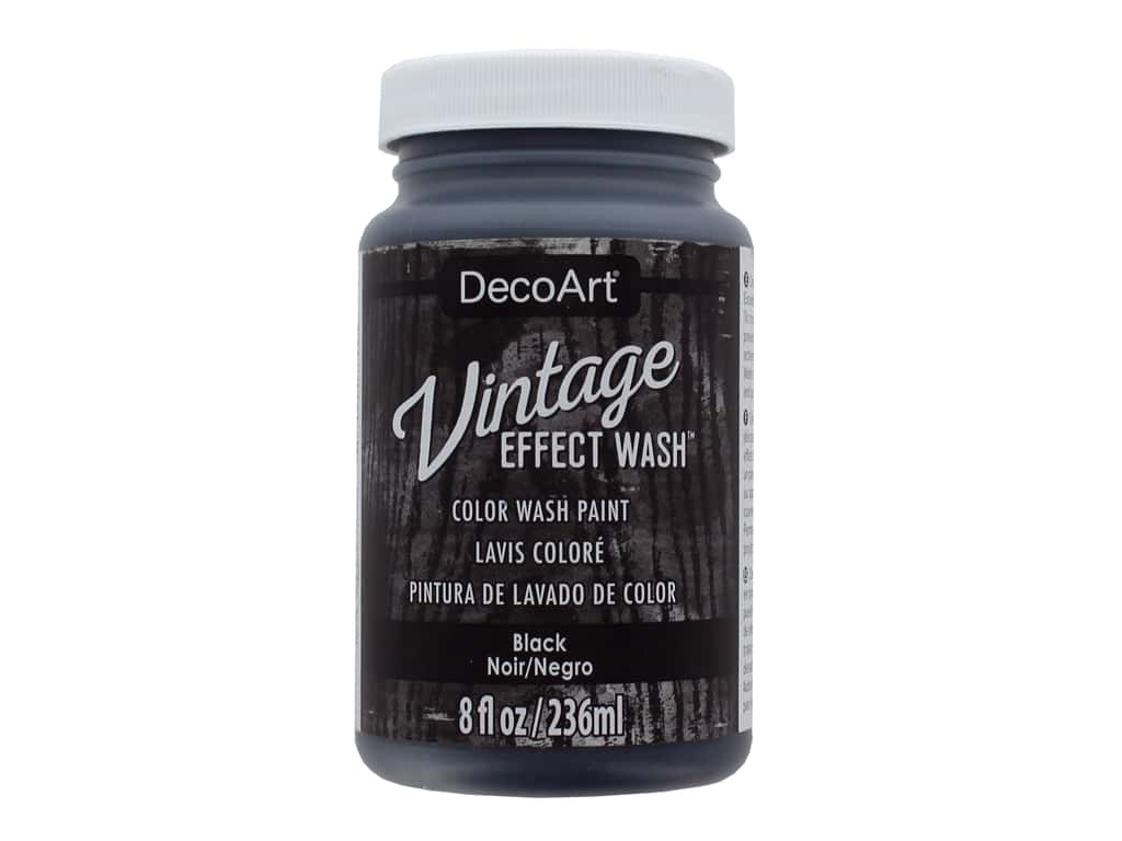 Decoart Vintage Effect Wash - Black 8 oz.