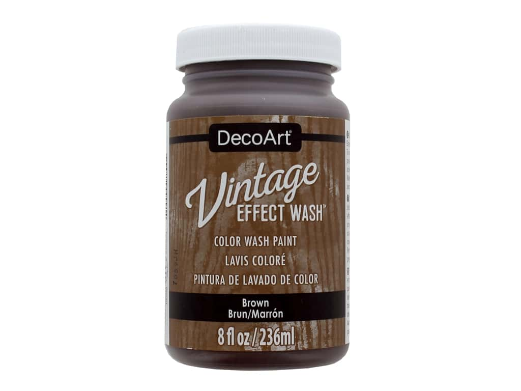 Decoart Vintage Effect Wash 8 oz. Brown