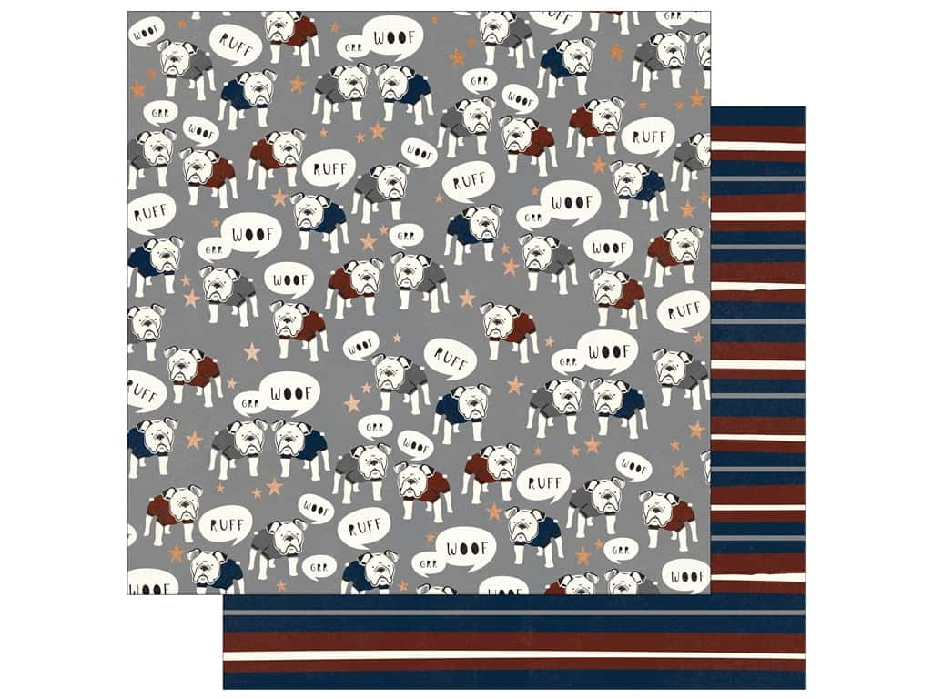 """My Mind's Eye Collection Hey Mister Paper 12""""x 12"""" Copper Foil Woof (25 pieces)"""