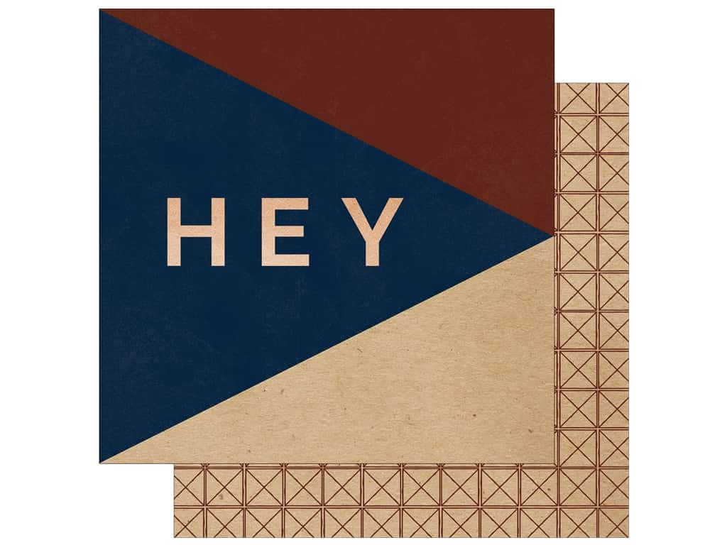 """My Mind's Eye Collection Hey Mister Paper 12""""x 12"""" Copper Foil Hey There (25 pieces)"""