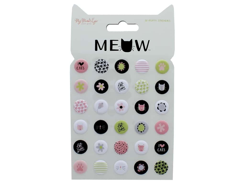 My Mind's Eye Collection Meow Sticker Puffy