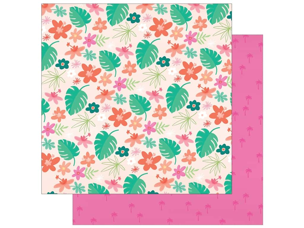"""My Mind's Eye Collection Palm Beach Paper 12""""x 12"""" Floral (25 pieces)"""