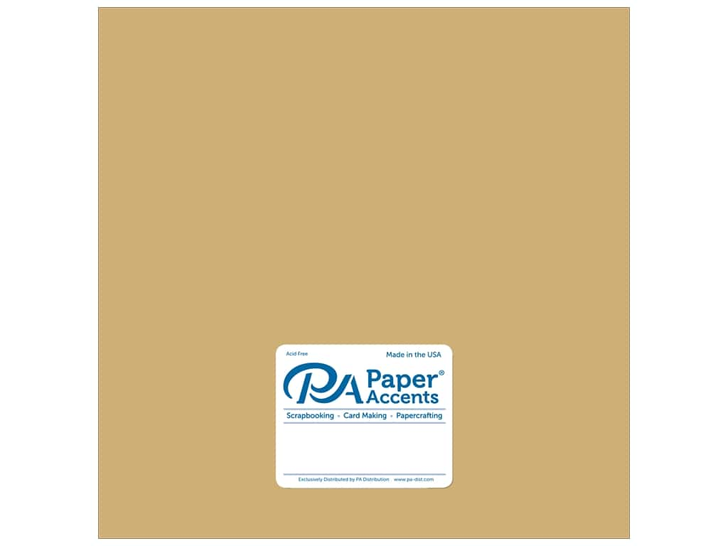 Paper Accents Pearlized Paper 12 x 12 in. #8822 Gold Dust 5 pc.