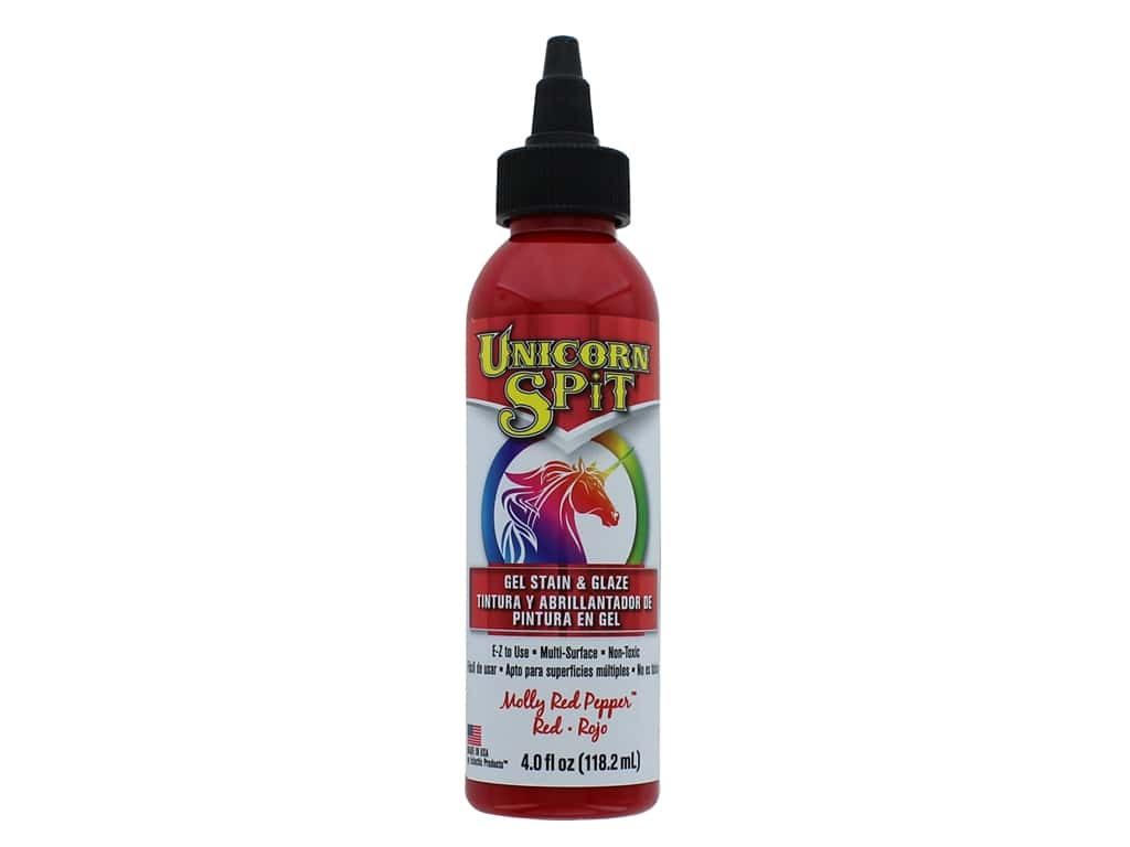 Eclectic Unicorn Spit Gel Stain & Glaze 4 oz. Molly Red Pepper