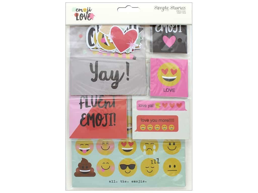 Simple Stories Collection Emoji Love Snap Pack