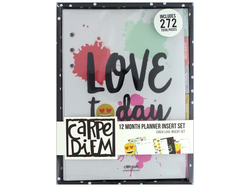 Simple Stories Collection Emoji Love Carpe Diem 12 Month Planner Insert Set