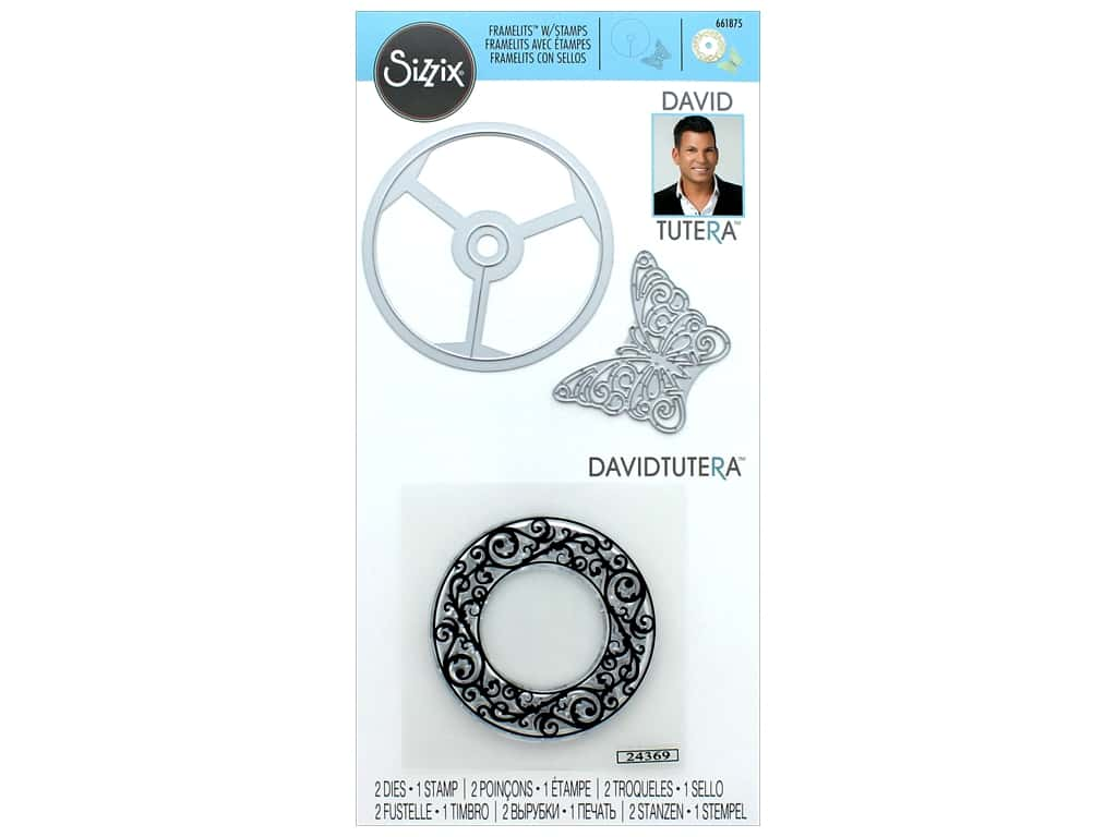 Sizzix Die & Stamp David Tutera Framelits Wine Glass