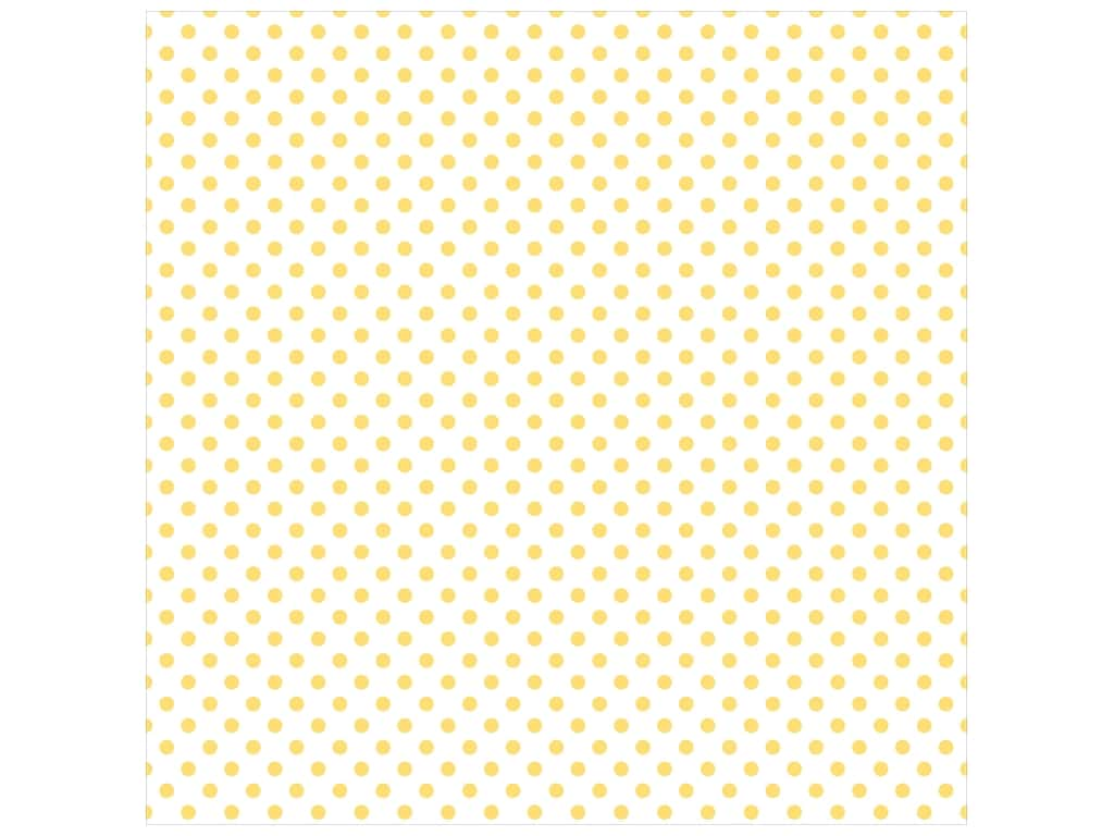 "Echo Park Collection Dots & Stripes Pastel Vellum 12""x 12"" Yellow Sunshine (25 pieces)"