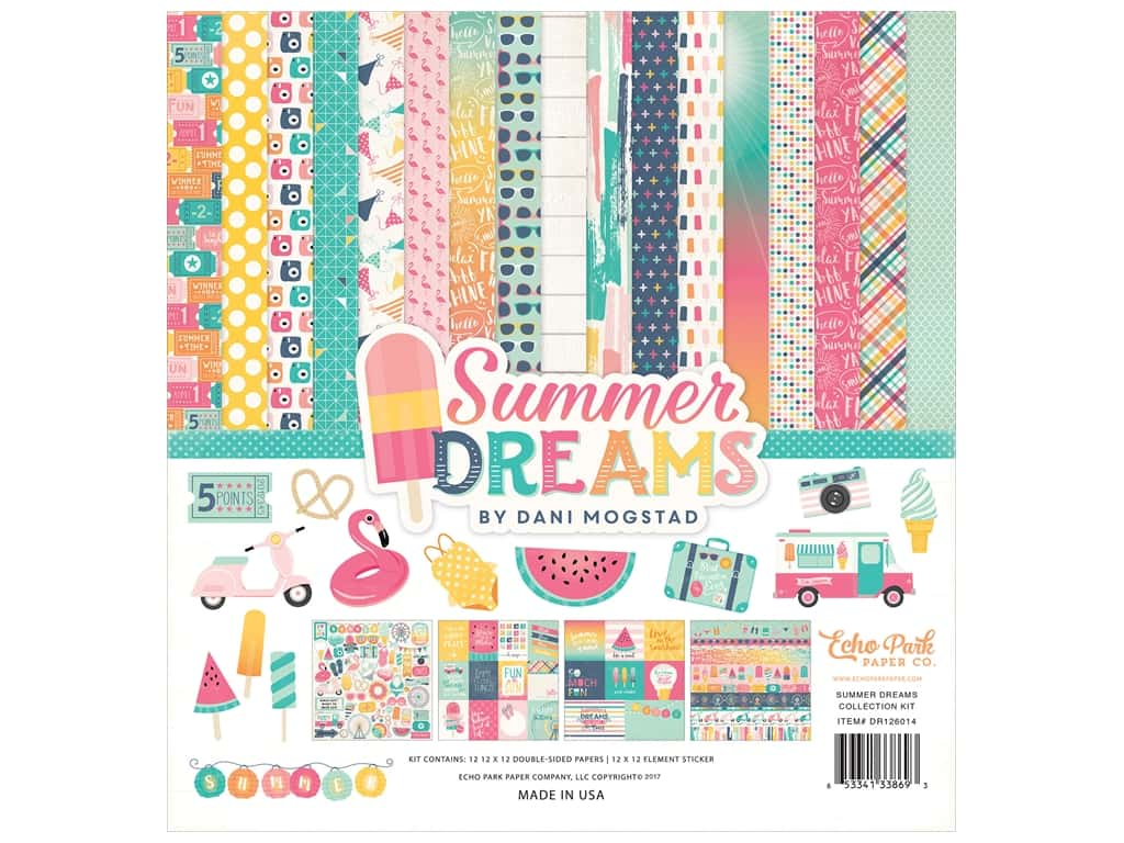 "Echo Park Collection Summer Dreams Collection Kit 12""x 12"""