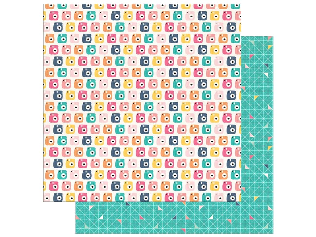 "Echo Park Collection Summer Dreams Paper 12""x 12"" Say Cheese (25 pieces)"