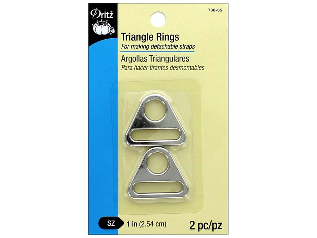 Dritz Triangle Rings 1 in. 2 pc. Nickel