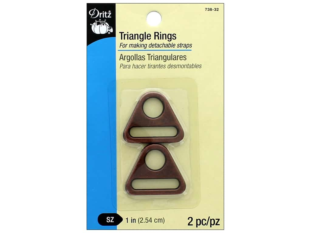 Dritz Triangle Rings 1 in. 2 pc. Copper