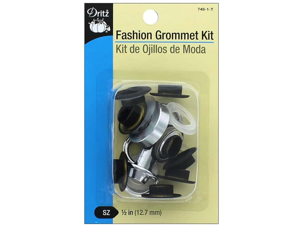 Dritz Fashion Grommet Kit 8 pc. Black with Tool