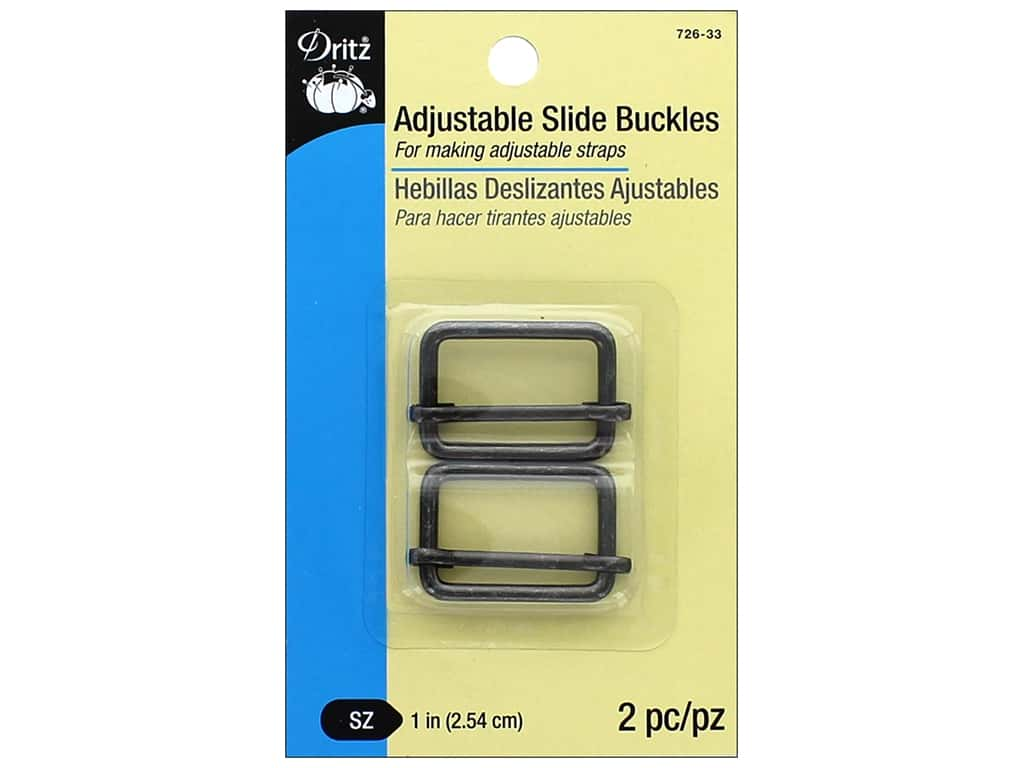 Dritz Adjustable Slide Buckles 1 in. 2 pc. Gunmetal