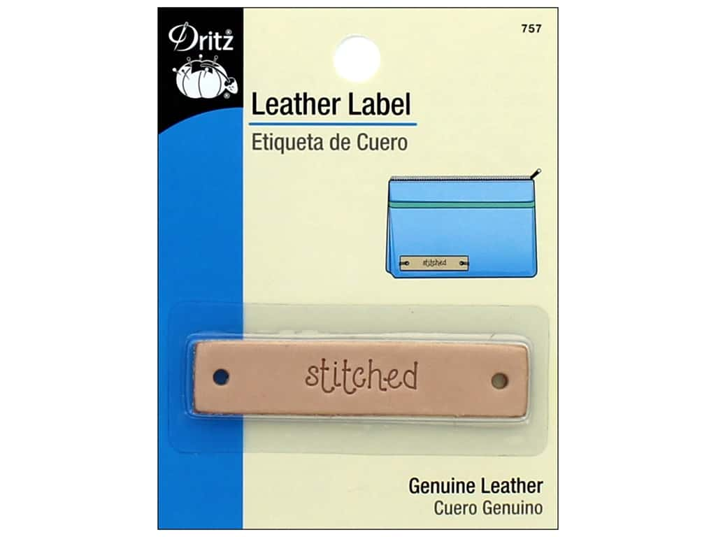 Dritz Leather Label 1 pc. Rectangle Stitched