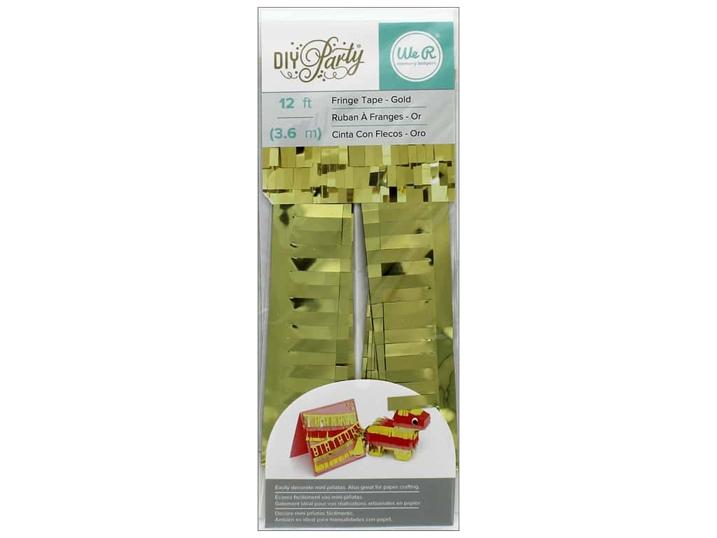 We R Memory Keepers DIY Party Fringe Tape 12 ft. Gold