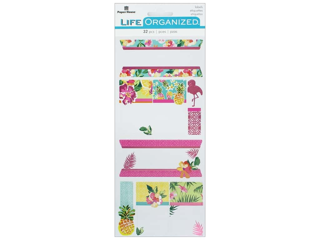 Paper House Collection Life Organized Sticker Label Embrace Today