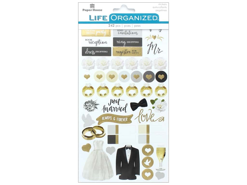 Paper House Collection Life Organized Sticker Always & Forever
