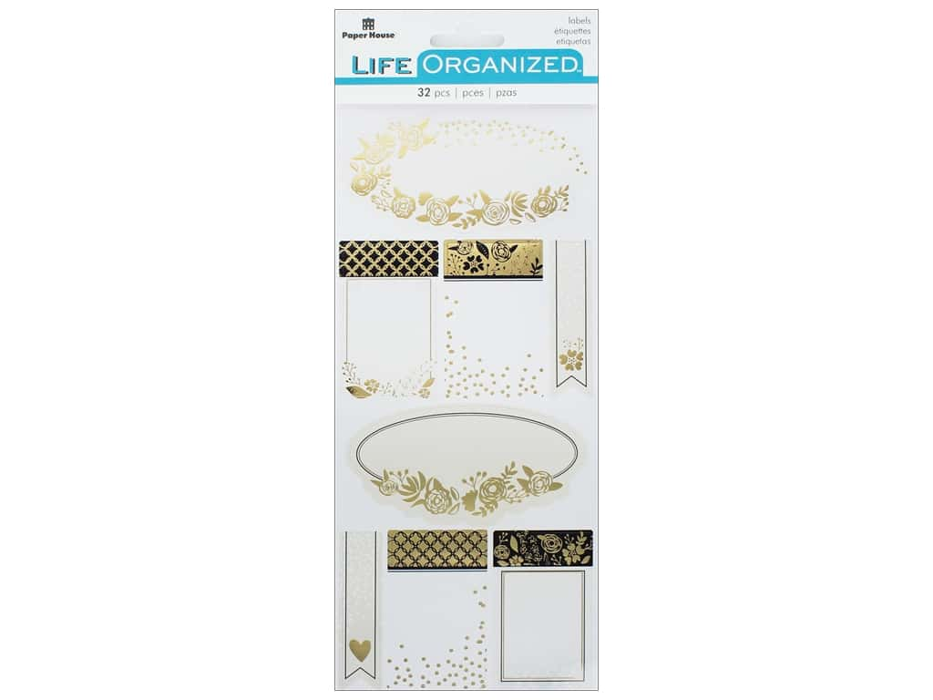 Paper House Collection Life Organized Sticker Label Cherished