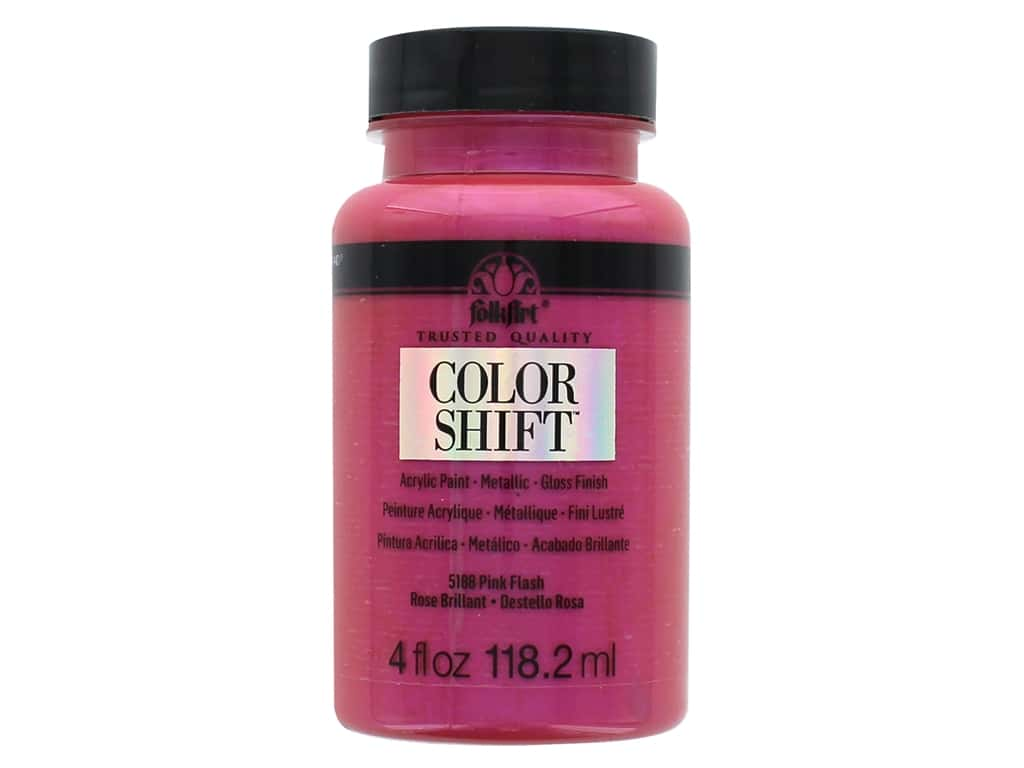 Plaid Folkart Color Shift Paint 4 oz. Pink Flash