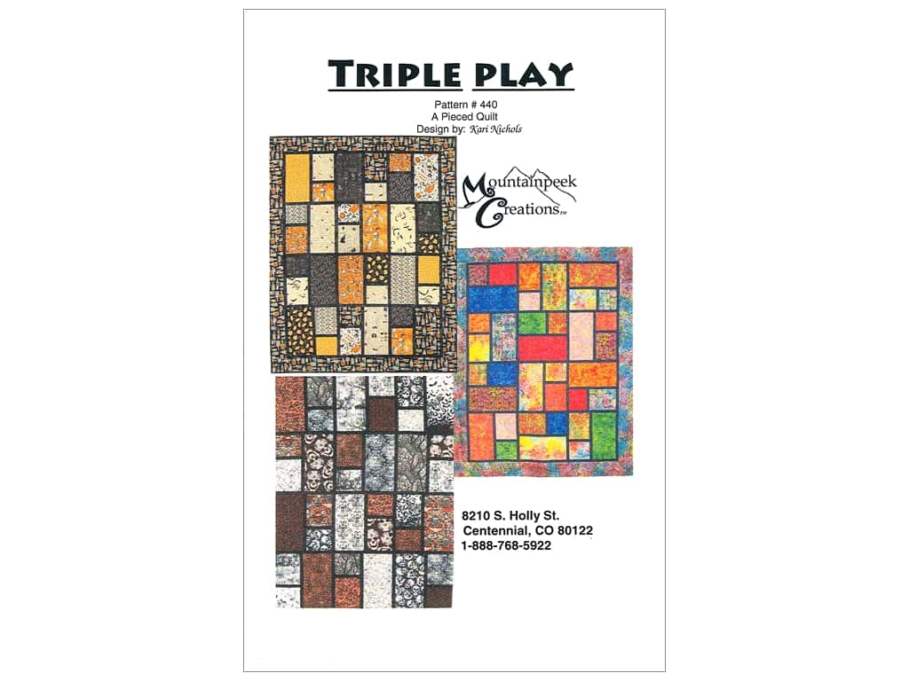 Mountainpeek Creations Triple Play Pattern