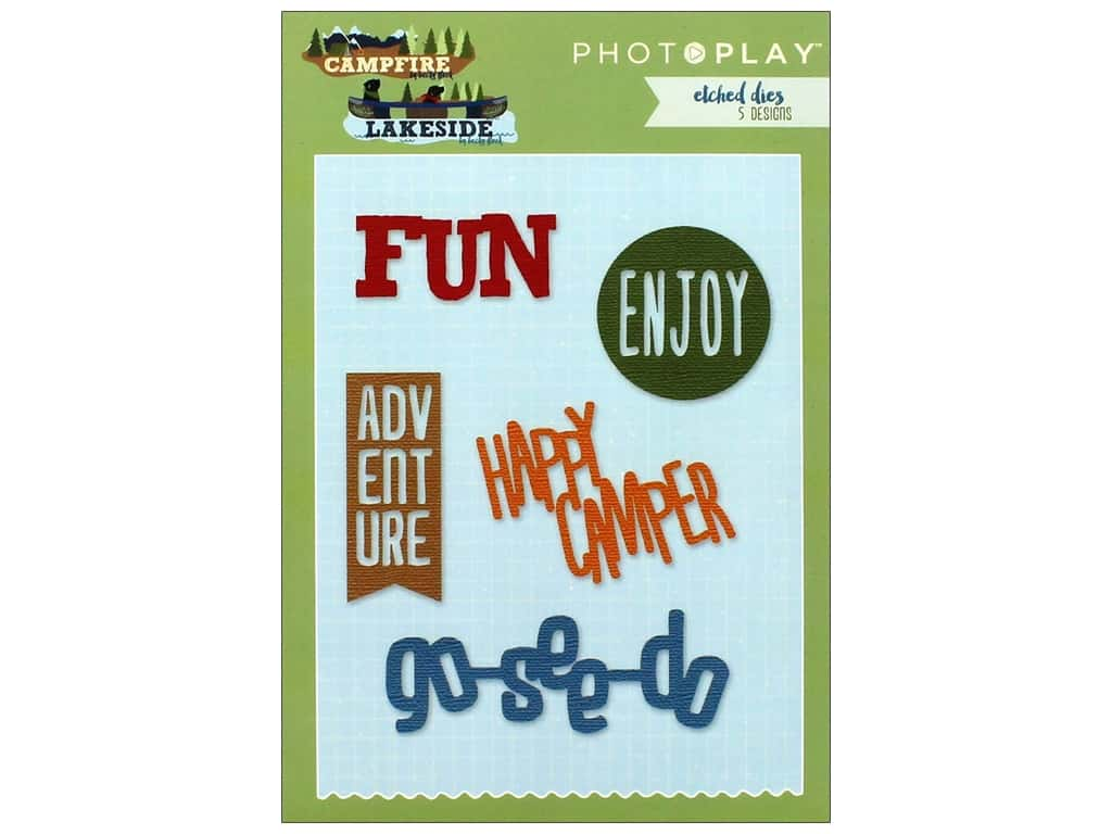 Photo Play Collection Campfire Lakeside Combo Etched Die Words