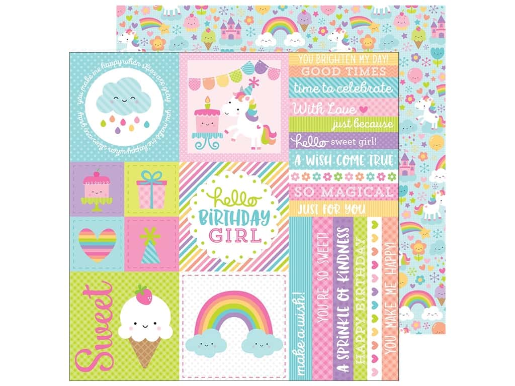 """Doodlebug Collection Fairy Tales Paper 12""""x 12"""" (25 pieces)"""