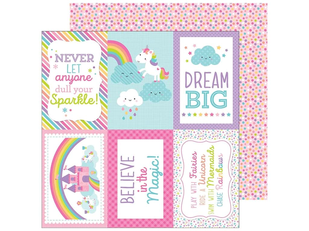 Doodlebug 12 x 12 in. Paper Fairy Tales Fairy-fetti (25 pieces)