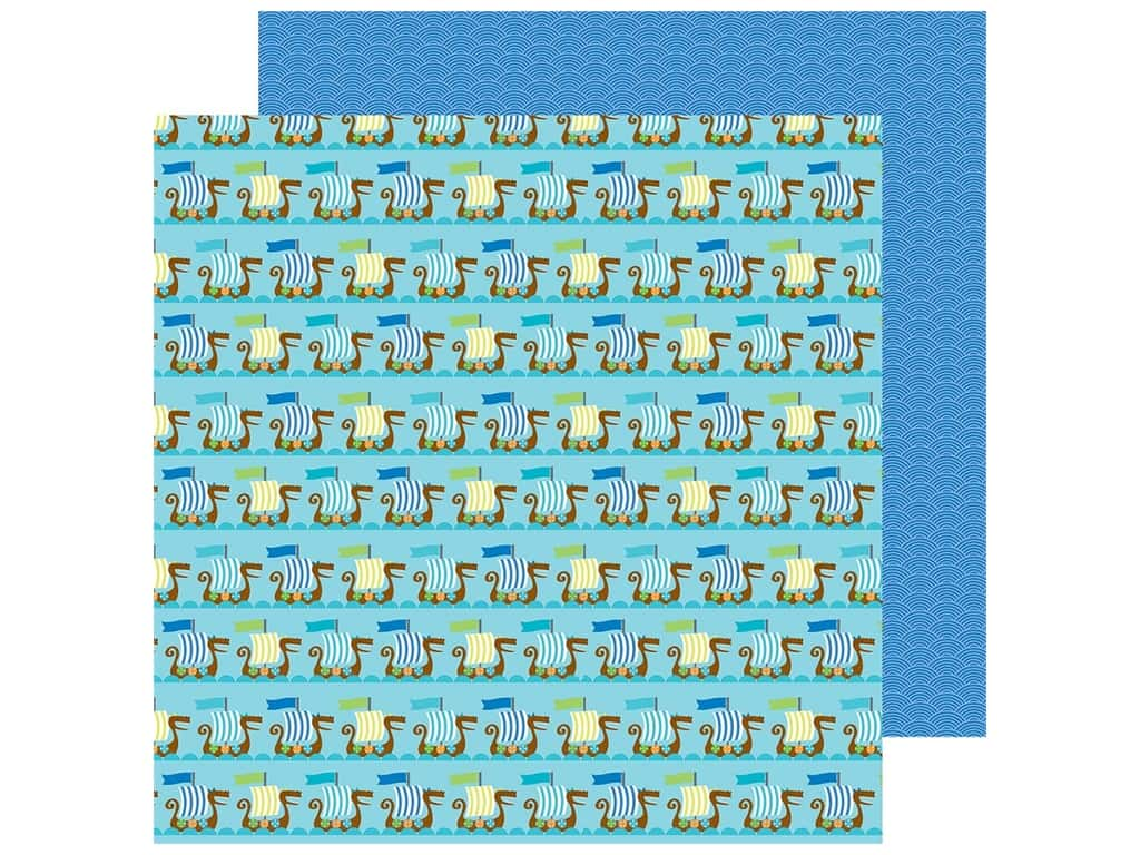 """Doodlebug Collection Dragon Tails Paper 12""""x 12"""" Friendly Fleet (25 pieces)"""