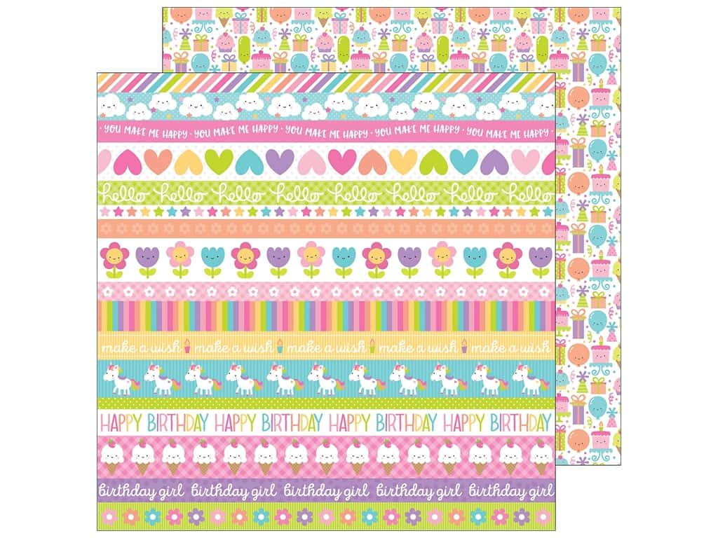 Doodlebug 12 x 12 in. Paper Fairy Tales Sweet Celebration (25 pieces)