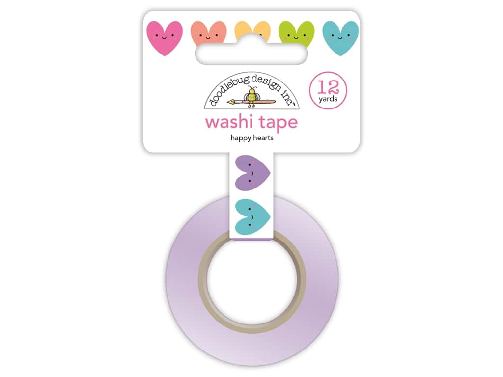 Doodlebug Collection Fairy Tales Washi Tape Happy Hearts