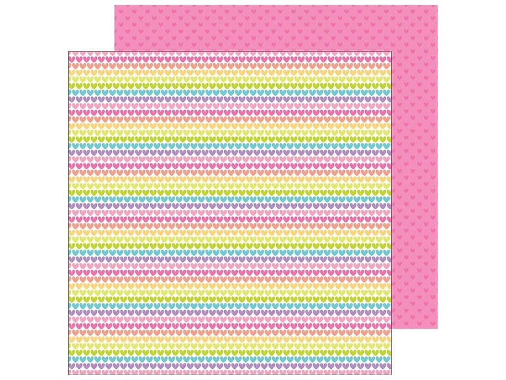 """Doodlebug Collection Fairy Tales Paper 12""""x 12"""" Rainbow Love (25 pieces)"""