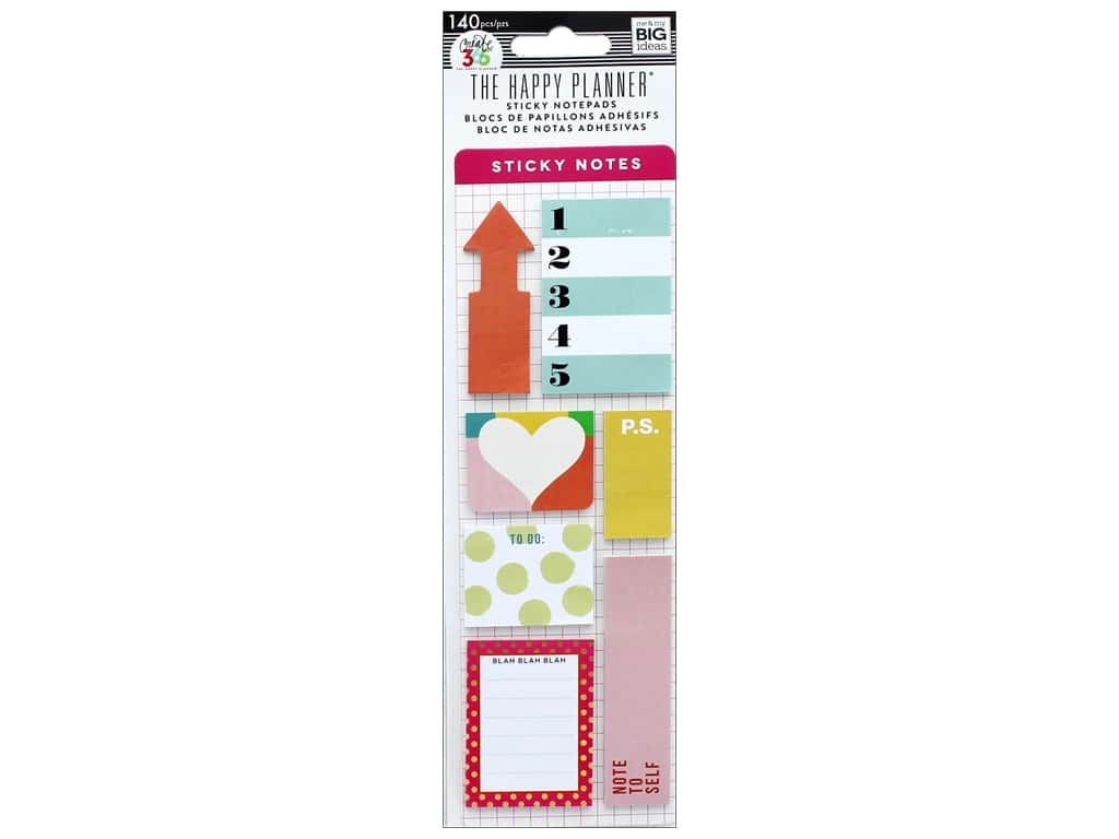 Me&My Big Ideas Happy Planner Sticky Notes Brights