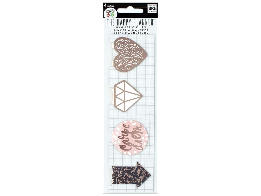 Me&My Big Ideas Happy Planner Magnet Bookmarks Rose Gold