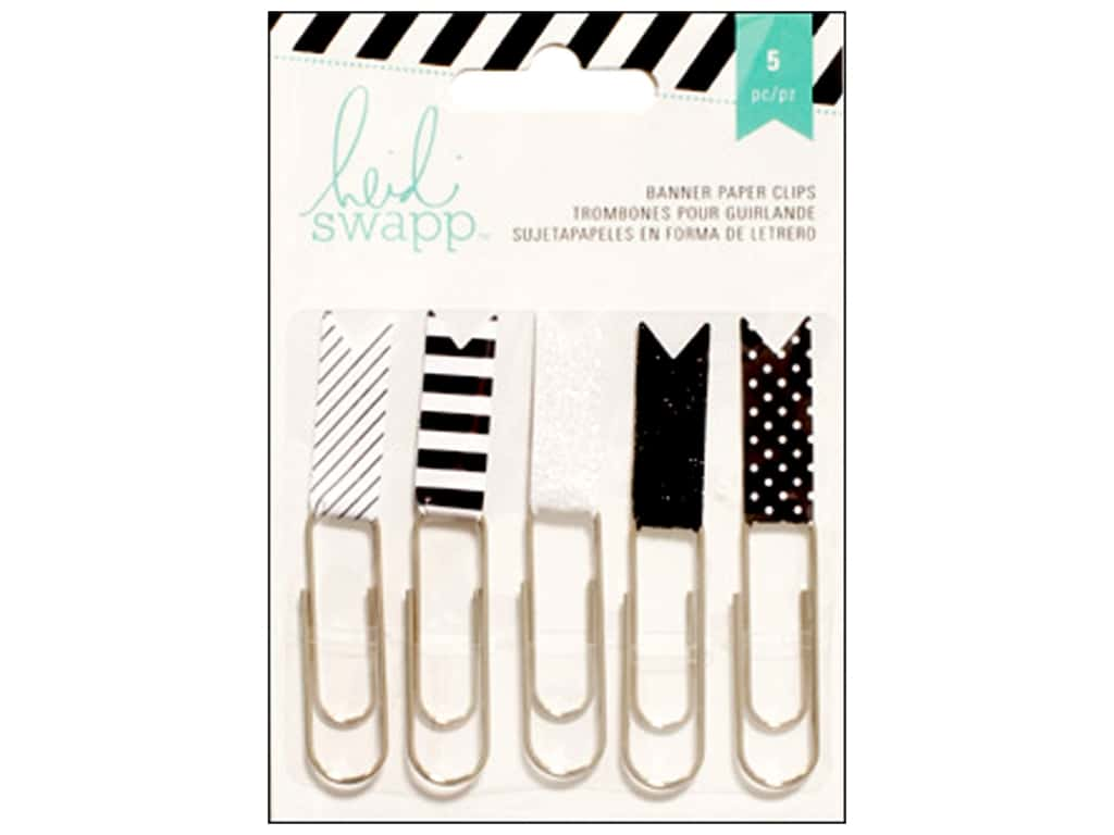 American Crafts Heidi Swapp Embellishments Paper Clip Flags Black/White
