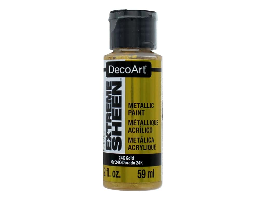 Decoart Extreme Sheen Metallic Paint 2 oz. 24K Gold