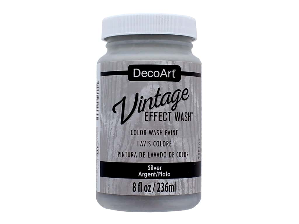Decoart Vintage Effect Wash - Silver 8 oz.