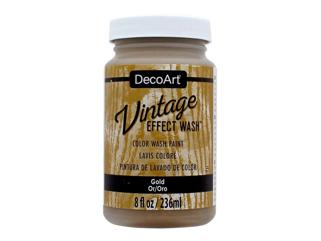 Decoart Vintage Effect Wash 8 oz. Gold