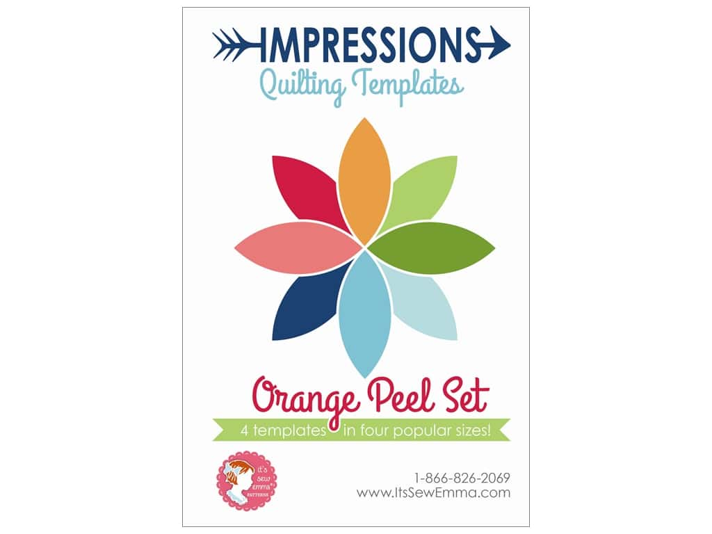 It's Sew Emma Impressions Quilting Template Orange Peel Set