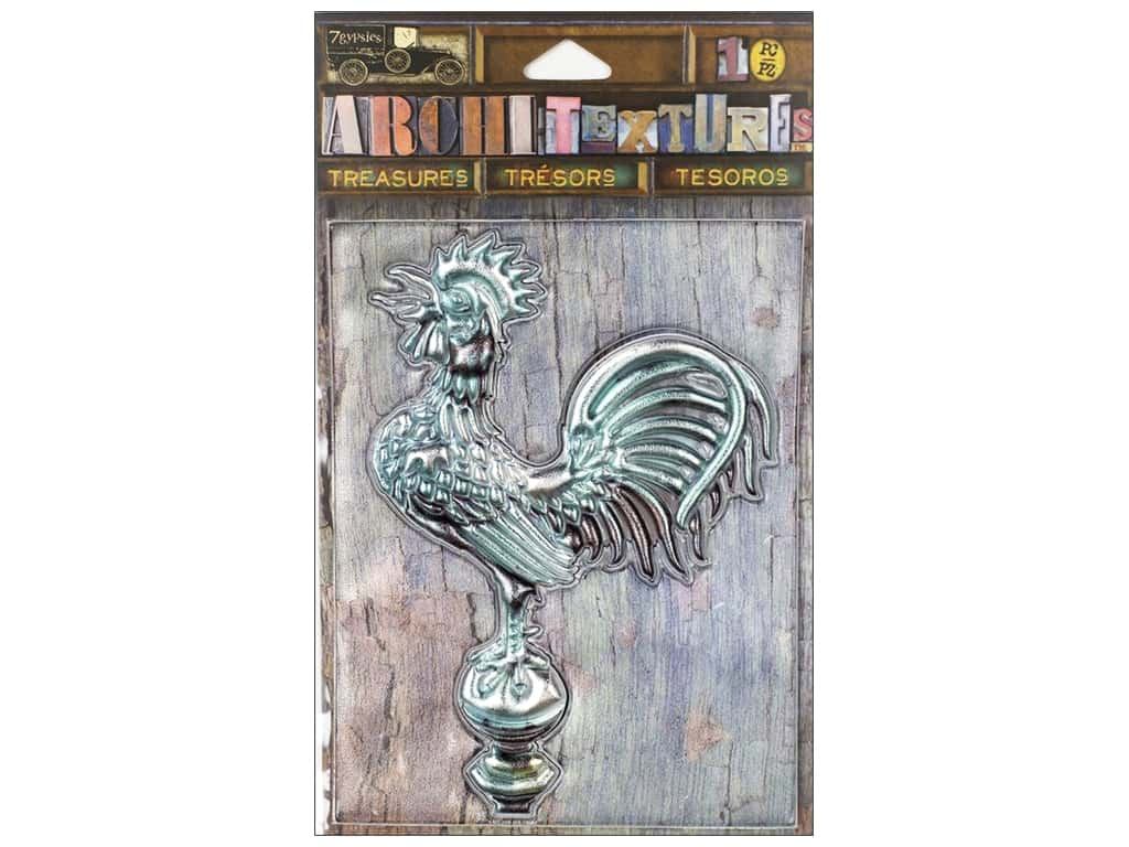 7 Gypsies Collection Architextures Treasures Weather Metal Rooster