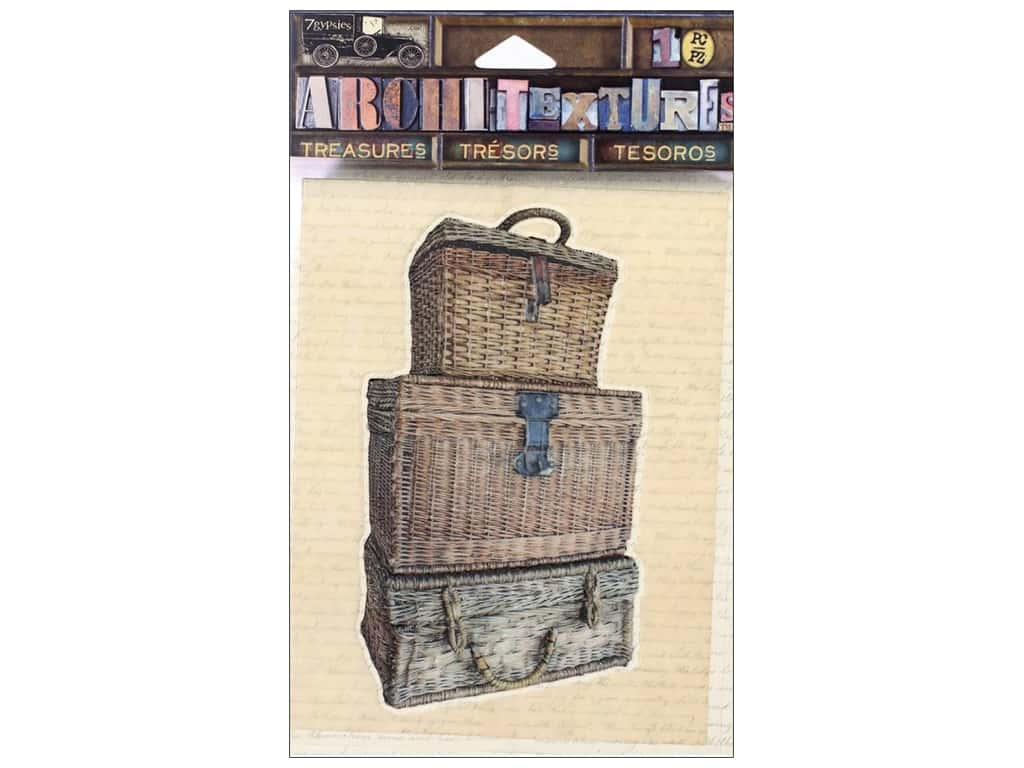 7 Gypsies Collection Architextures Treasures Stacked Wicker Trunk