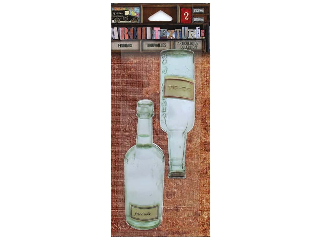 7 Gypsies Collection Architextures Findings Tint Bottles Green