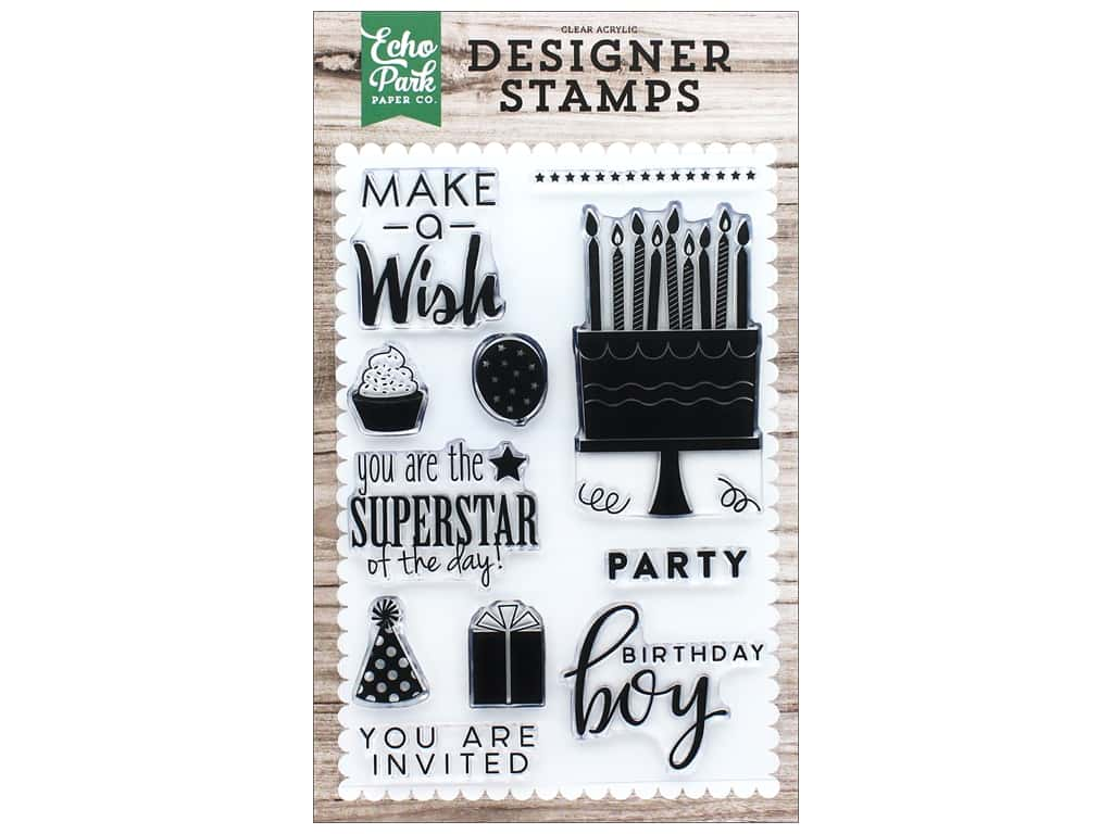 Echo Park Clear Stamp Set You Are Invited