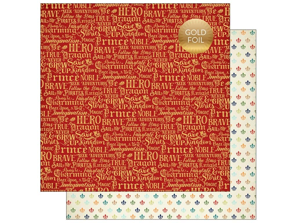 """Echo Park Collection Once Upon A Time Prince Paper 12""""x 12"""" Charming Words (25 pieces)"""
