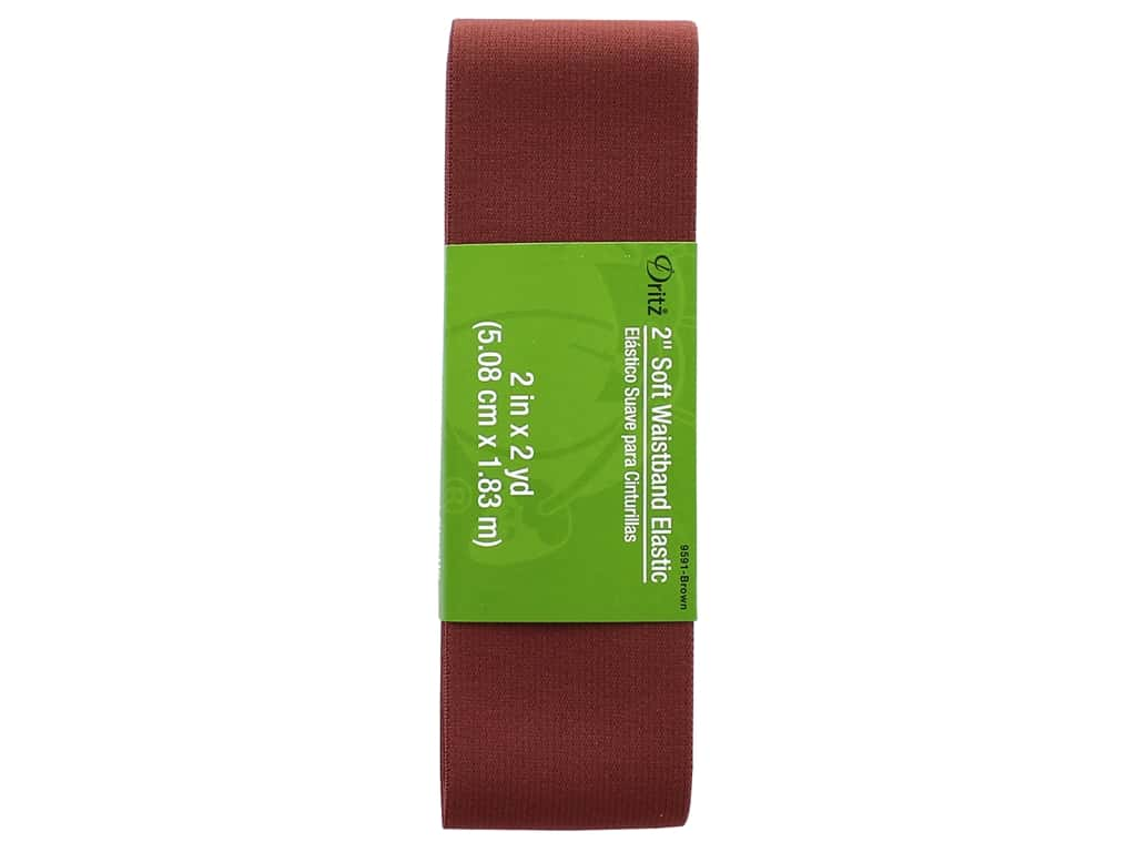 Dritz Soft Waistband Elastic - 2 in. x 2 yd. Brown