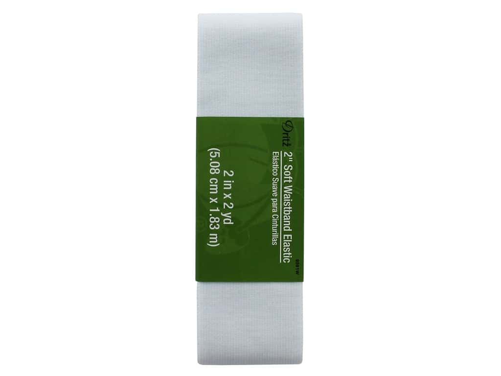 Dritz Soft Waistband Elastic - 2 in. x 2 yd. White