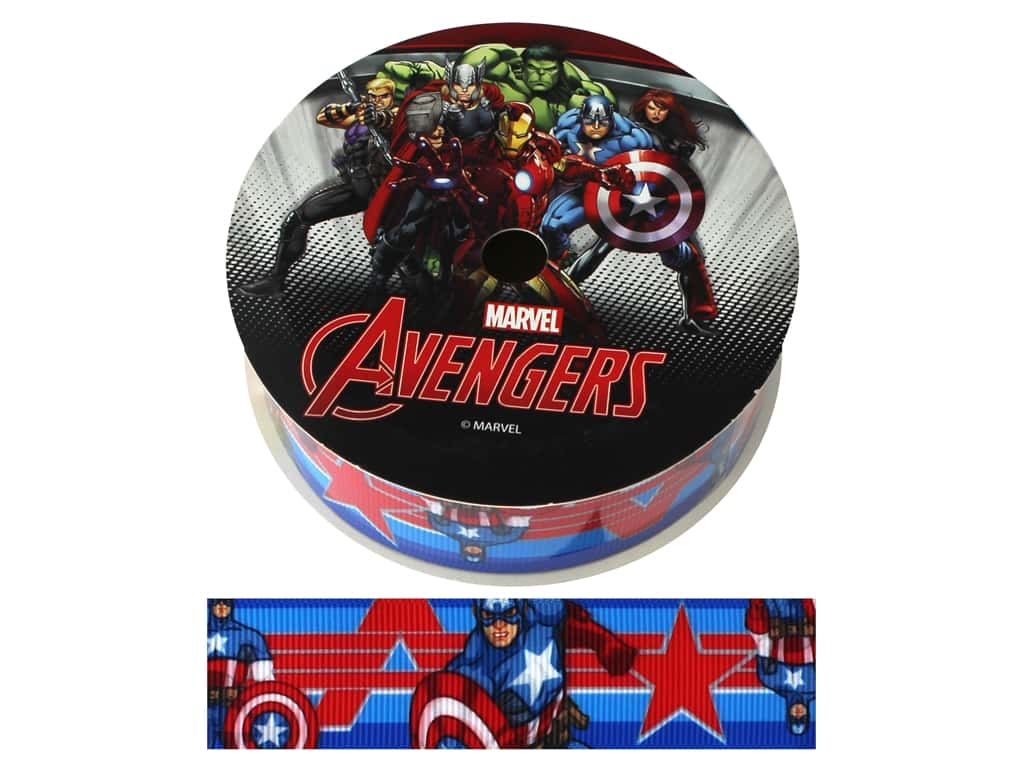 "Simplicity Ribbon Grosgrain 1"" Captain America"
