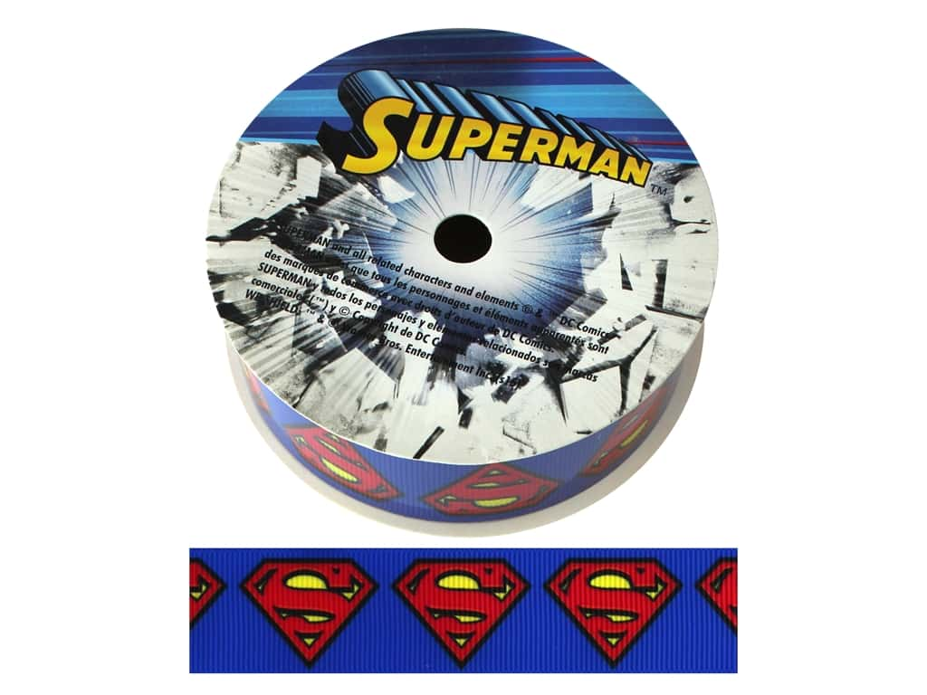 "Simplicity Ribbon Grosgrain 1"" Superman Logo"