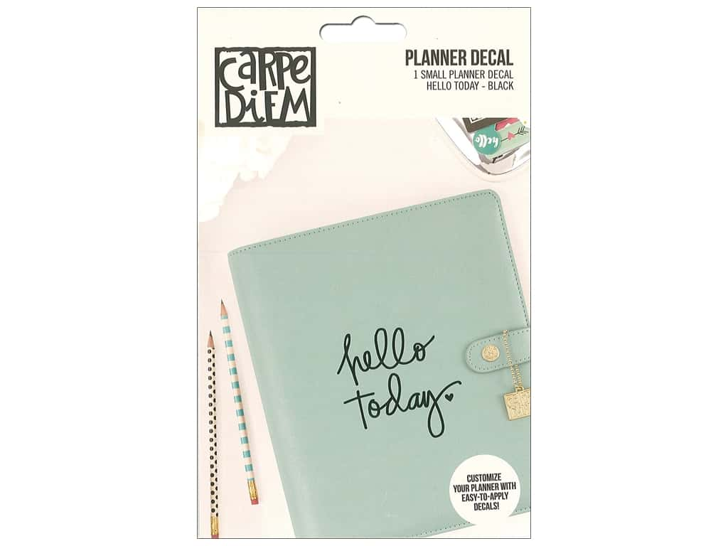 Simple Stories Collection Carpe Diem Planner Decal Small Hello Today Black